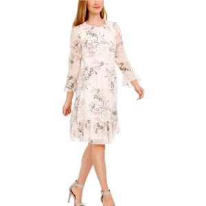 Calvin Klein Floral Print Crepe Fit and Flare